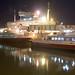 Southampton ferry boats by night