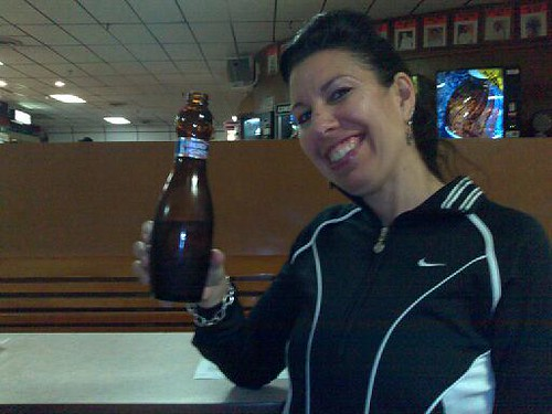 The Bowling Pin Beer Bottle
