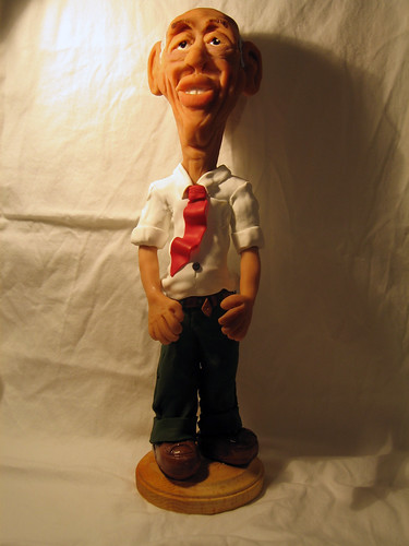 Polymer clay sculpture, entitled 'Ernest'