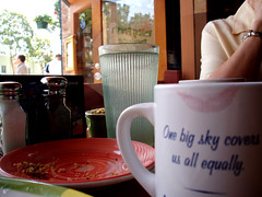 last crumbs of weekend breakfast (emdot) Tags: breakfast bigsky sanluisobispo downtown godloveweekendmornings broadstreet embadge