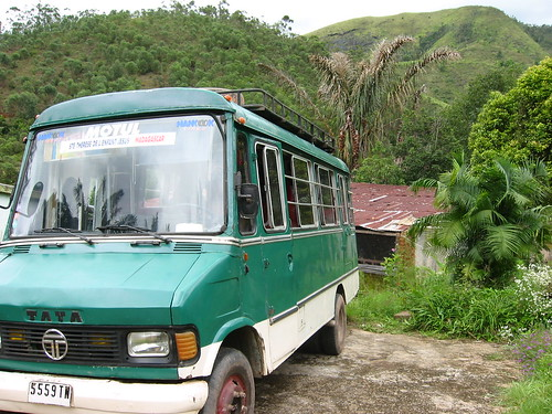 A Tata minvan in Africa. Image by Robin Elaine on Flickr (CC BY 2.0).