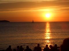 sunset, cafe del mar, ibiza