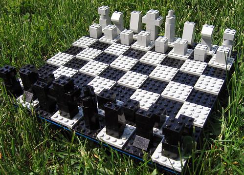 Ajedrez hecho de LEGO