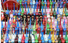 colourful cats! (rahen z) Tags: cats toy kamakura japan blue red colours topv111 1025fav 100v10f neko