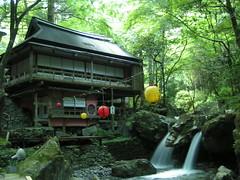 cafe in the bosom of the mountains (pan-o) Tags: green japan shiga hiyoshi