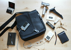What's in My Bag? (yusheng) Tags: camera leica moleskine bag nokia topf50 ipod sony cellphone whatsinyourbag topv9999 prada whatsinmybag paulsmith interestingness9 kiehls i500 stuffiown