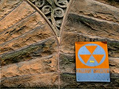 (Joie de Vivre) Tags: sign stone wall words decay radiation radioactive shelter fallout