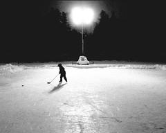 Rink Rat (Packer Fan) Tags: winter bw hockey kids children top20winter kra052 top20sports utatafeature utatasilhouette utataspace