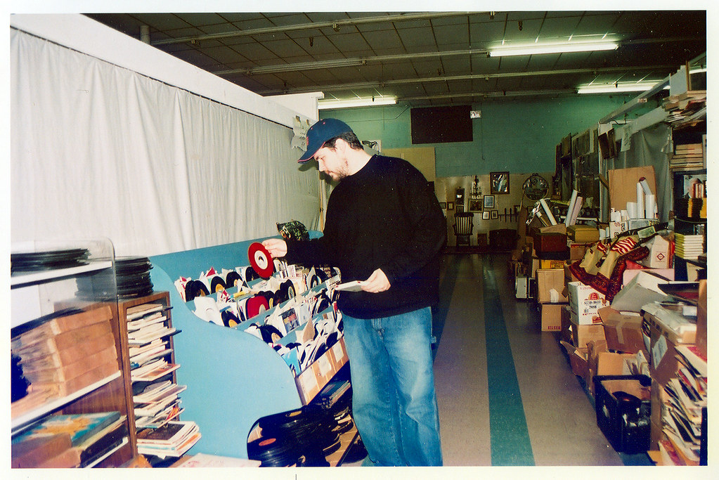 Shopping at Pop's Records