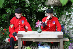 chelsea pensioners have a pint