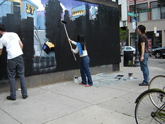 DSC00238 (pooptronica) Tags: chicago graffiti ad axe blasters lumpen edmar