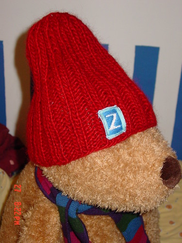 Second Knitting project - Team Zissou hat
