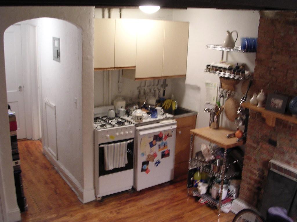 Kitchen (in the bedroom-livingroom-diningroom)