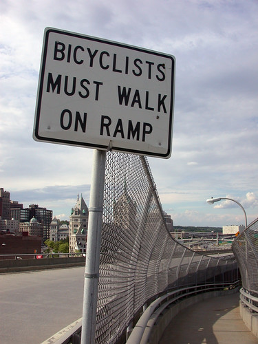 bicyclists must walk