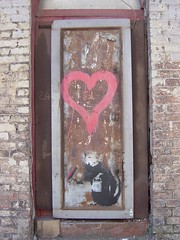 the cat/rat strikes again! (enkaye) Tags: graffiti banksy liverpool slaterst