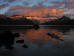 Garabaldi Lake sunset (geekmusic) Tags: glaciallake mountgarabaldi glacier britishcolumbia lake snow forest volcanic
