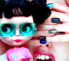 whom do you touch with the finger? (peppermintrock) Tags: blythe doll toy cosmetics nail maryquant polish