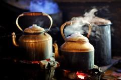 boiling water - tea chai meiktila phitar fire myanmar burma water boiling
