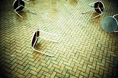 abandoned tables (lomokev) Tags: england abandoned rain weather lomo lca xpro lomography crossprocessed xprocess brighton lomolca tables agfa jessops100asaslidefilm agfaprecisa lomograph agfaprecisa100 cruzando precisa jessopsslidefilm image:selection=nmo2 file:name=cd00720