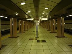 Deserted subway station