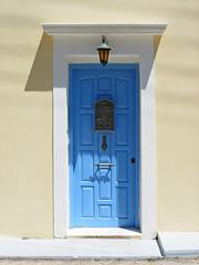 Nice Door in Matsouki, Kefalonia - Greece (mnadi) Tags: door blue yellow wall island greek cream greece kefalonia ionic matsouki