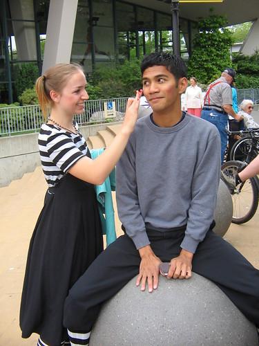 Blushing Boy with Girl