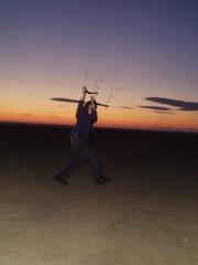 P1030051 (SandMonster) Tags: ainsdale kite june 2005 sunset