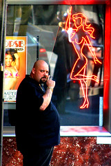 Strip Club Bouncer - by Thomas Hawk