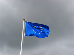 Pont-Saint-Martin (Loire-Atlantique, France) (Erwan F) Tags: 2005 cloud france europe european symbol flag sombre nuage referendum europeanunion symbole drapeau futur avenir mainblanche 29mai 29may unioneuropenne 500pxccnov2008