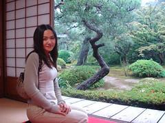 Mizuka at garden in Unryuin - mizuka kyoto japan unryuin garden