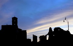 Roman Forum (jake7uk) Tags: italy rome silhouette architecture digital nikon d70 nikond70 roman dusk nikkor dslr dx 1870 jake7uk nikkor1870dx