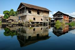 Floating Village, Inle Lake, Burma - by tarotastic
