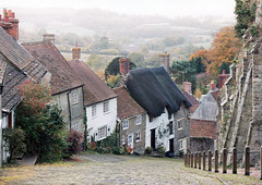 Steep! (Cathy G) Tags: film bread hill dorset steep shaftsbury hovis goldhill tvadvert interestingness234 i500 canoneos100film