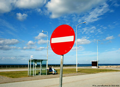 "A no-entry sign in Fyn Harbour / Ein ""Ver..."