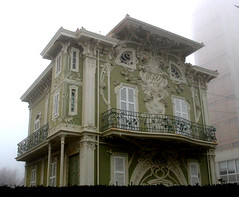 haunted (batintherain) Tags: winter italy house fog architecture contrast liberty casa italia day haunted artnouveau nouveau nebbia inverno pesaro architettura marche villinoruggeri stregata