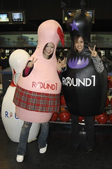 Kana and Reina in the Bowling Pin suits