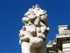 Westminster Bridge South Bank Lion, London (hanneorla) Tags: 2003 bridge london westminster architecture south lion bank sculptures hanneorla classicallondon