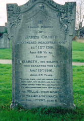 James and Elizabeth Gilbert's Gravestone