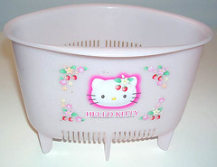 Hello Kitty Strawberry Sankaku Corner (pkoceres) Tags: pink kitchen japan corner strawberry sink hellokitty sanrio colander strainer  drainer    boughtonebay  hellokittystrawberry