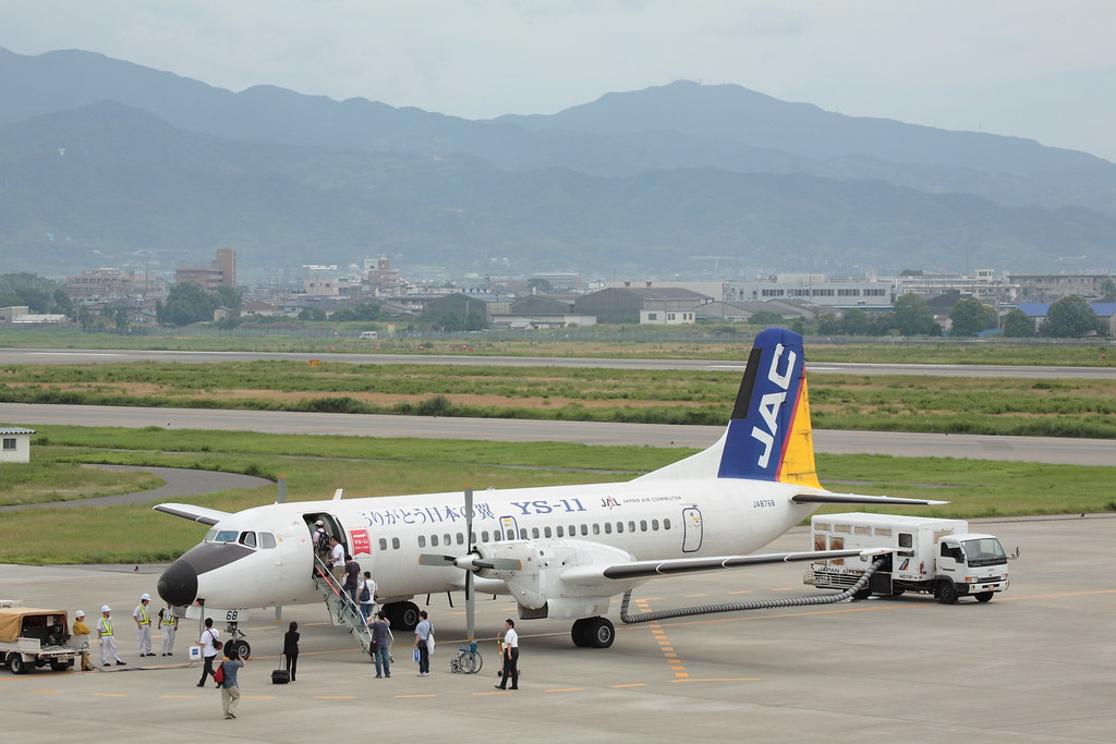 YS-11 and Matsuyama City
