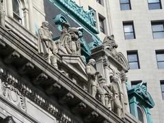 Revolutionary figures atop Surrogate Court (pointandlaugh) Tags: newyorkcity cityhall downtownmanhattan