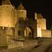 Porte Narbonnaise de nuit