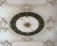 Ceiling with a clock (:Linda:) Tags: above clock church architecture germany town stuck kirche thuringia ceiling number decke inside below stucco rococo zeit uhr rokoko suhl zahl zimmerdecke kircheninneres churchinside kircheinnen kircheninnen