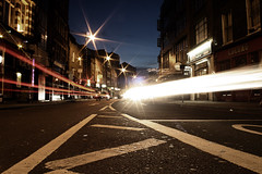 old street with light speed