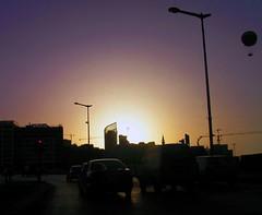 Construction in  Downtown Beirut (Fadi Asmar ^AKA^ Piax) Tags: road sunset summer lebanon tower cars marina lights construction downtown traffic balloon 2006 press beirut liban 1on1 annahar thecontinuum