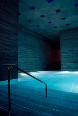 Themal Bath in Vals (AKorour) Tags: water architecture switzerland bath vals spa termal peterzumthor termalbath artlibre