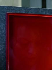 trayful (djuless) Tags: red selfportrait reflection me sunday tray folder varnish nocomposite