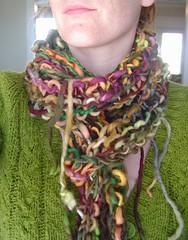 confetti scarf (ma.ke.land) Tags: wool hand knit yarn scarves knitted dyed handspun