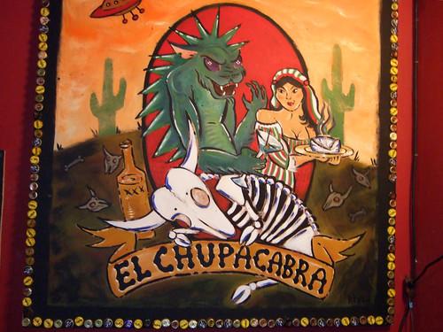 letrero restaurante Chupacabras
