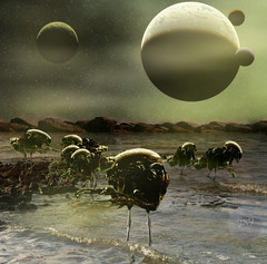 alien planet (Gravityx9) Tags: fab bird water animal photoshop altered oneofakind alien nuclear planet chop experimentation multicolored universe wowie magical synthetic outofthisworld pst imagemanipulations trolls intergalactic pf specialeffects sfx smorgasbord ithink thoughtless allyouneedislove global2 epistemology spacethefinalfrontier americaamerica dirtyword realsurreal supershot creativephoto psart 052206 goldenmix aplause mystars wowiekazowie ilovemypic anythingdigital psjunkies betterthangood photoshopmasterpiece artinternational photosthatrock wonderfulmix yourpreferredpicture highcreativity clevercreative photosphotoshoped psfofamily totalphotoshop allkindsofbeauty sensationalcreations flickralien
